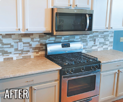 By having your cabinets refinished, you can change the entire look of your space for a fraction of the cost of a remodel