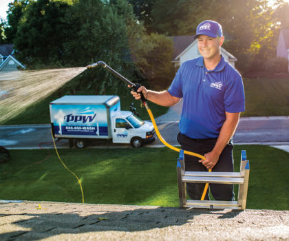Perfect Power Wash eliminates destructive algae from local roofs