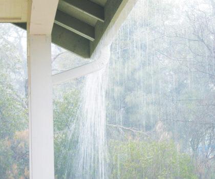 Clean and cover your gutters now to protect your flowerbeds, basement and foundation from summer and fall rains