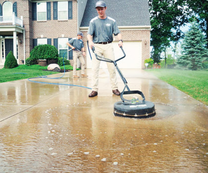 Pressure washing and sealing your driveway before winter is essential to protecting it from Northeast Ohio's damaging freeze-thaw cycle