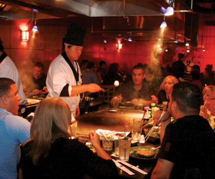 The cool temperatures of fall mean the parties at Shinto Japanese Steak House and Sushi Bar are heating up
