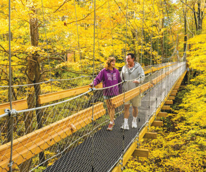 One of Lake County's best places to see the fall foliage  is at Holden Arboretum