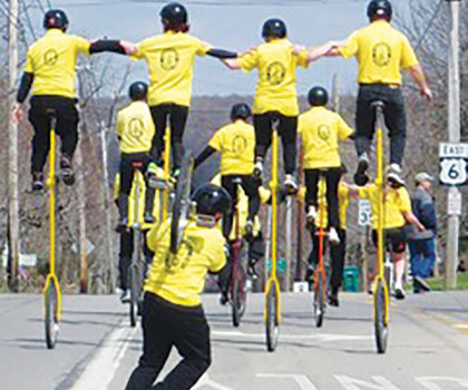 The St. Helen Unicycle Drill Team is ready for its next challenge