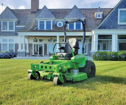Williams Landscaping & Pavers uses all-electric equipment to keep lawns in pristine condition and the planet preserved
