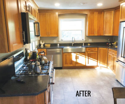 Acclaim Renovations & Design brought an outdated kitchen into the here and now