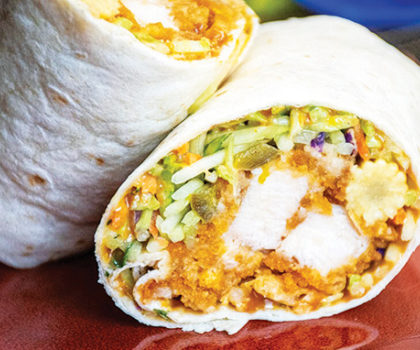 The Starving Chef Recipe: Thai Peanut Butter Chicken Wraps