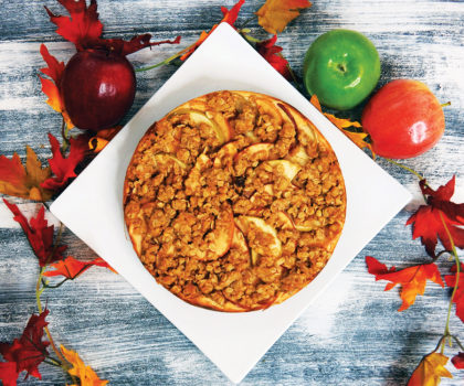 The Starving Chef Recipe: Caramel Apple Crisp Cheesecake