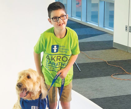 Lucas Ransom is raising funds for a Hoyt Running Chair so he can become the first Traveling Hero for Akron Children's Hospital at the Akron Marathon