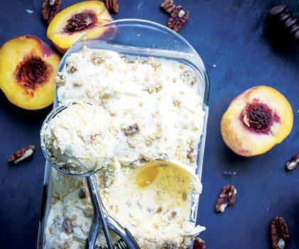 The Starving Chef Recipe: Peach Cobbler Ice Cream