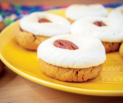 The Starving Chef Recipe: Sweet Potato Marshmallow Cookies