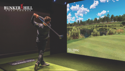Bunker Hill Golf Course-Indoor Golf Full Swing Simulator Eagle Membership ($1200 Value)